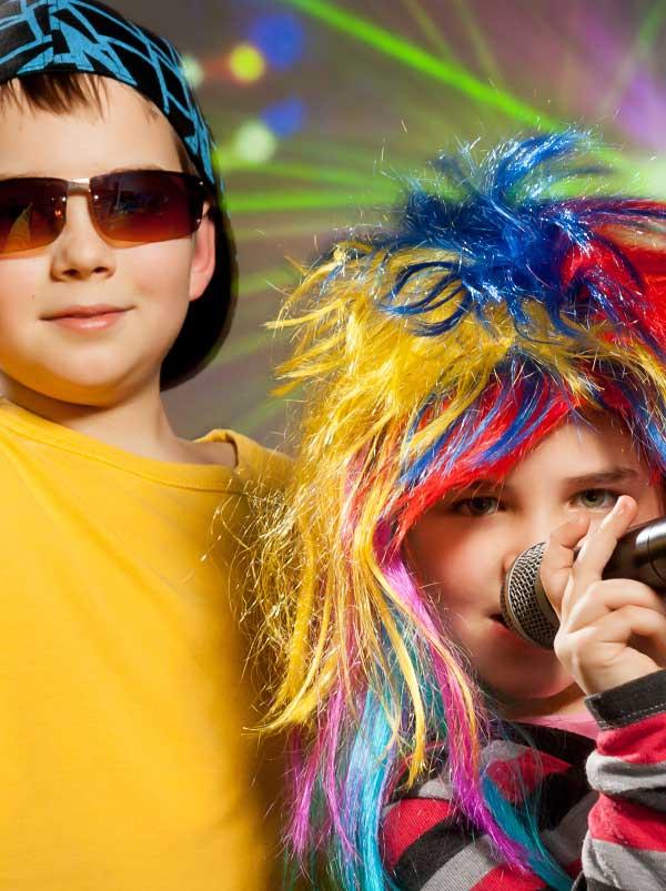 Children Doing Karaoke